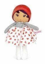 Bábika pre bábätká Jade K Doll Tendresse Kaloo 18 cm v srdiečkových šatách z jemného textilu v darčekovom balení od 0 me