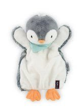 Plüss pingvin kesztyűbáb Les Amis-Penguin Doudou Kaloo 30 cm legkisebbeknek