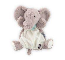 Plüss elefánt kesztyűbáb Les Amis-Elephant Doudou Kaloo 30 cm legkisebbeknek