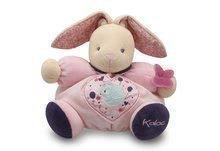 KALOO 969857 plyšový zajačik s hrkálkou ružový PETITE ROSE-CHUBBY RABBIT BIRDIE 30 cm z jemného plyšu v darčekovej krabičke