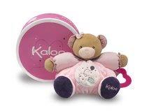 Plyšové medvede - Plyšový medvedík Petite Rose-Chubby Bear Baloon Kaloo s hryzátkom 25 cm v darčekovom balení pre najmenších ružový_0