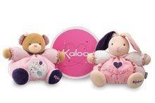 Plyšové medvede - Plyšový medvedík Petite Rose-Chubby Bear Baloon Kaloo s hryzátkom 25 cm v darčekovom balení pre najmenších ružový_1