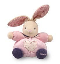 Iepuraş de pluş roz Petite Rose-Chubby Rabbit Heart Kaloo 18 cm în cutie de cadou