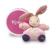 Hračky pre bábätká - Plyšový zajačik Petite Rose-Chubby Rabbit Heart Kaloo 18 cm v darčekovom balení pre najmenších ružový_0