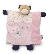 KALOO 969865 plyšový medvedík bábka na maznanie s hryzátkom PETITE ROSE-DOUDOU PRETTY BEAR 20 cm z jemného plyšu v darčekovej
