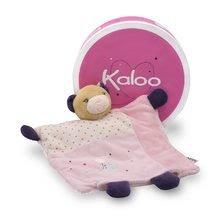Hračky na maznanie a usínanie - Plyšový medvedík bábkové divadlo Petite Rose-Doudou Pretty Bear Kaloo s hryzátkom 20 cm v darčekovom balení pre najmenších_0