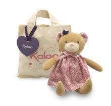 Handrové bábiky - Plyšový medvedík bábika Petite Rose-Bear Doll Kaloo 28 cm v darčekovom balení pre najmenších_0