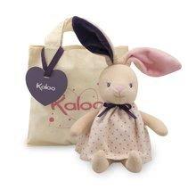 Plyšový zajačik bábika Petite Rose-Rabbit Doll Kaloo 28 cm v darčekovom balení pre najmenších
