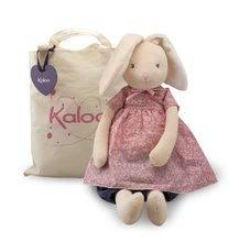 Plyšový králíček panenka Petite Rose-Maxi Rabbit Doll Kaloo v sukýnce 55 cm v dárkovém balení pro nejmenší