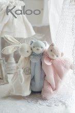 Hračky na maznanie a usínanie - Plyšový zajačik na maznanie Perle-Round Doudou Rabbit Kaloo 20 cm v darčekovom balení pre najmenších ružový_5