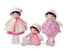 Hadrové panenky - Panenka pro miminka Perle K Tendresse Kaloo v bílých šatech v dárkovém balení 32 cm od 0 měsíců_4