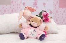 Hračky na maznanie a usínanie - Plyšový medvedík bábkové divadlo Petite Rose-Doudou Pretty Bear Kaloo s hryzátkom 20 cm v darčekovom balení pre najmenších_2