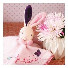 Hračky na maznanie a usínanie - Plyšový zajačik Petite Rose-Round Doudou Rabbit Love Kaloo 20 cm v darčekovom balení pre najmenších_2