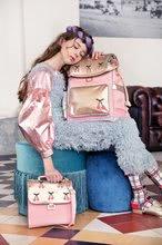 Školske torbe i ruksaci - Školski ruksak veliki Ergomaxx Cherry Pompon Jeune Premier ergonomski luksuzni dizajn 39*26 cm_13