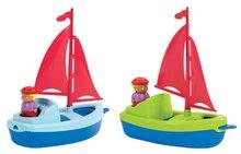 Plachetnice s námořníkem Écoiffier 13 cm od 18 měsíců modrá/zelená 2 kusy