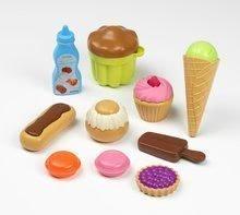 Potraviny pre deti v sieťke 100% Chef Ecoiffier - Sladkosti a koláče 10 ks od 18 mesiacov 16220-C