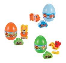 Set stavebnica Vajíčko so zvieratkami Animals Eggs Écoiffier 15 cm - zajac, kohútik a ryba od 18 mes