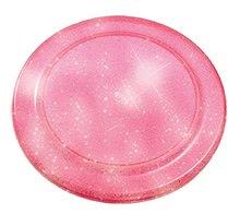 Lietajúci tanier s trblietkami Écoiffier priemer 23 cm od 18 mesiacov ružový