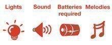 Odrážadlá so zvukom - Elektronické odrážadlo Disney Frozen Kiddieland so svetlom a hudbou ružové od 12 mes_2