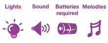 Hračky zvukové - Letadélko Activity Kiddieland se zvukem a světlem od 18 měsíců_4