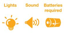 Hračky zvukové - Zábavná žirafa Activity Kiddieland se zvuky a světlem od 12 měsíců_2