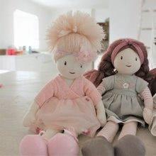 Hadrové panenky - Panenka hadrová Amelie Rag Doll ThreadBear 35 cm z jemné měkké bavlny s blond drdolem_3