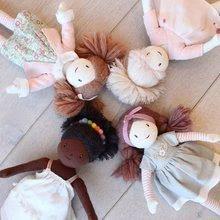 Hadrové panenky - Panenka hadrová Amelie Rag Doll ThreadBear 35 cm z jemné měkké bavlny s blond drdolem_5