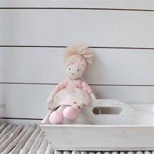 Hadrové panenky - Panenka hadrová Amelie Rag Doll ThreadBear 35 cm z jemné měkké bavlny s blond drdolem_2