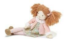 Hadrové panenky - Panenka hadrová Marty Rag Doll ThreadBear 35 cm z jemné měkké bavlny s hnědými culíky_0