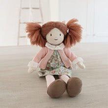 Hadrové panenky - Panenka hadrová Marty Rag Doll ThreadBear 35 cm z jemné měkké bavlny s hnědými culíky_2