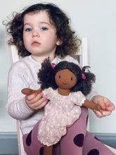 Hadrové panenky - Panenka hadrová Mia Rag Doll ThreadBear 35 cm z jemné měkké bavlny s tmavými vlásky_0