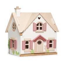Vidéki fa babaház Cottontail Cottage Tender Leaf Toys 13 részes, stílusos retro bútorokkal, magassága 48 cm