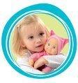 Bábika pre deti so zvukom Smoby Minikiss 210102-1 modrá