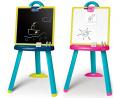 Magnetická školská tabuľa pre deti 2v1 obojstranná Smoby 410607 modrá
