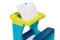 Školská lavica s odkladacím priestorom a obojstrannou tabuľou Activity Smoby s 8 doplnkami 420101 modrá