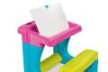 Školská lavica s odkladacím priestorom a obojstrannou tabuľou Activity Smoby s 8 doplnkami 420102 ružová