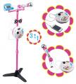Karaoke stojaci mikrofón Maggie&Bianca Smoby so zvukmi a svetlom 520116 ružový