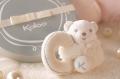 Kaloo plyšový medvedík a zajačik Perle Set 962198 krémový