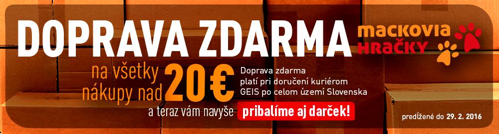 Pri nákupe nad 20 € doprava zdarma!