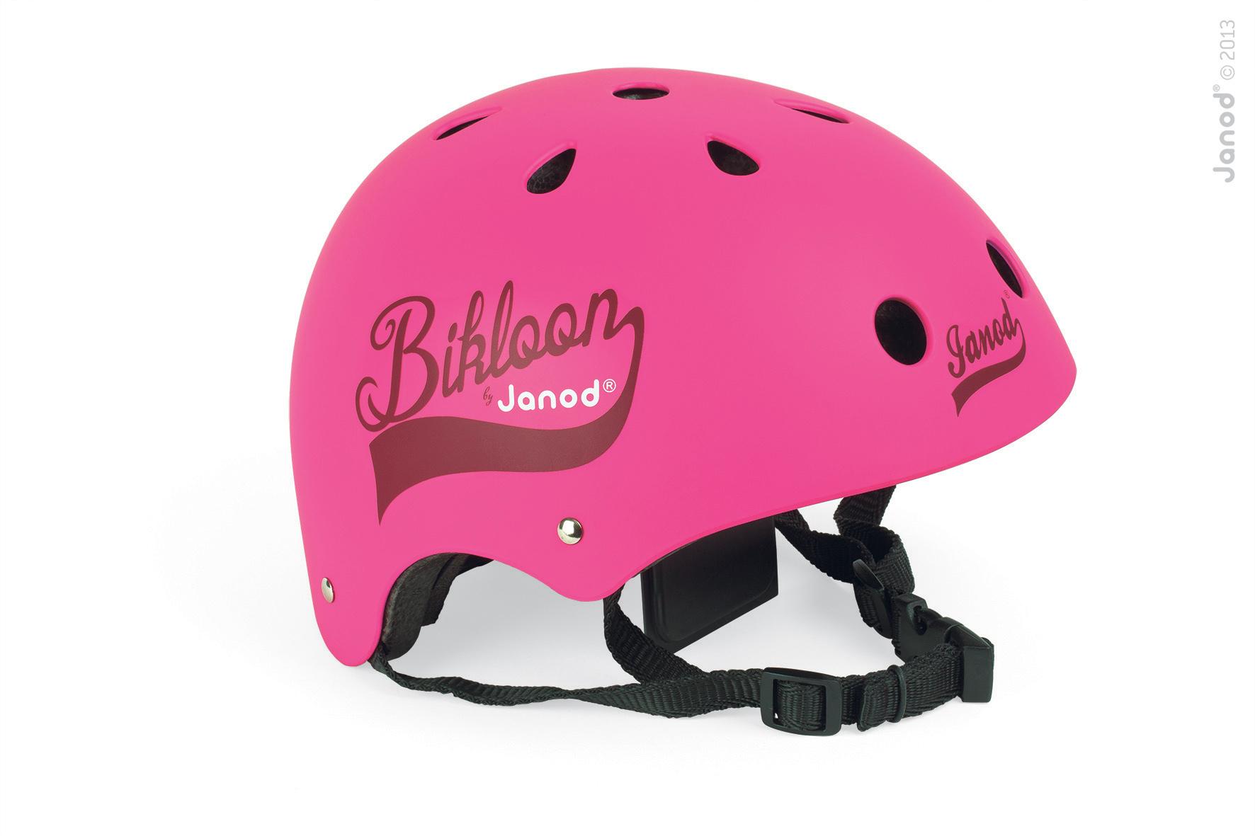 Detské prilby - Cyklistická prilba Bikloon Pink Janod s ventiláciou veľkosť 47-54 ružová