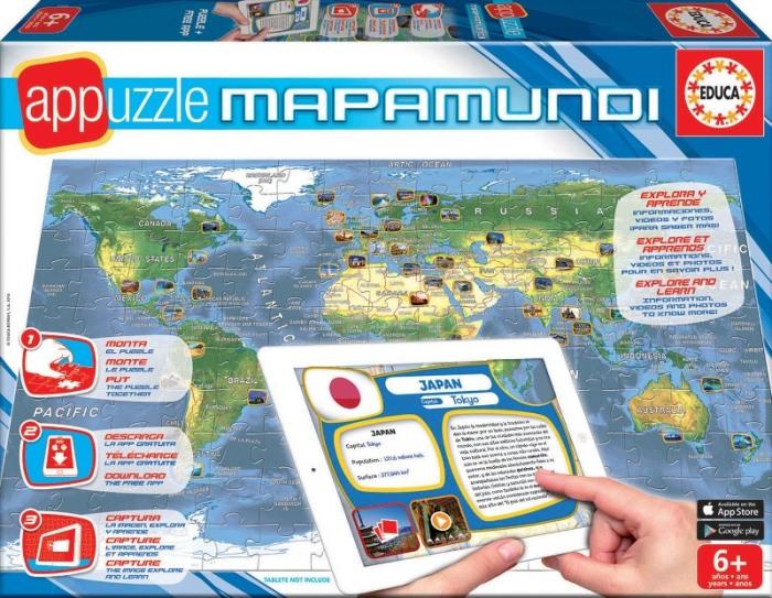 Educa mapa světa.