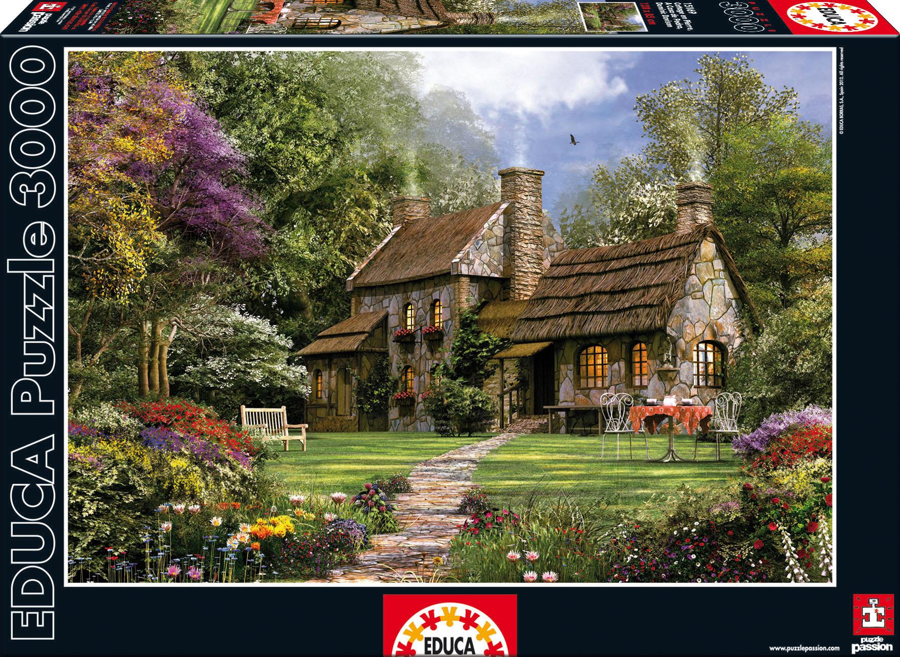 Puzzle Flint Cottage, D. H. Davison Educa 3 000 dílů od 15 let