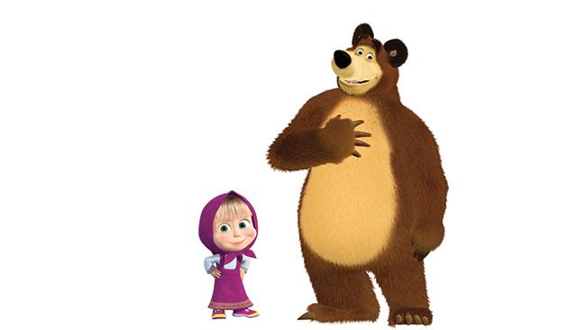 Máša a medveď dobýjajú svet hračiek