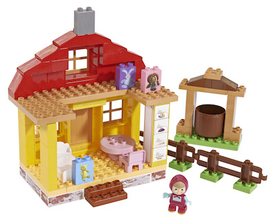 Stavebnice Máša a medvěd v domku