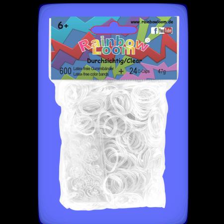 Rainbow Loom originální transparentní gumičky 600 kusů průsvitné od 6 let