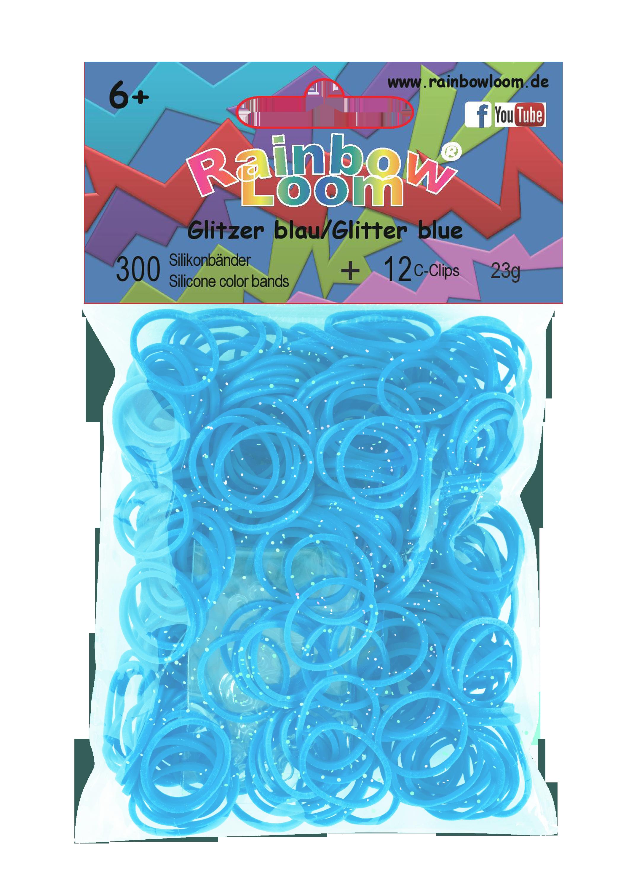 RAINBOW LOOM 20365 Original gumičky 300 kusů třpytivě modrá 05431