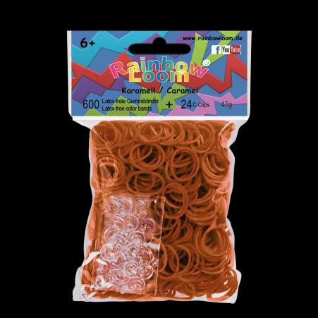 Rainbow Loom gumičky plné - Rainbow Loom originálne gumičky 600 kusov karamelové od 6 rokov