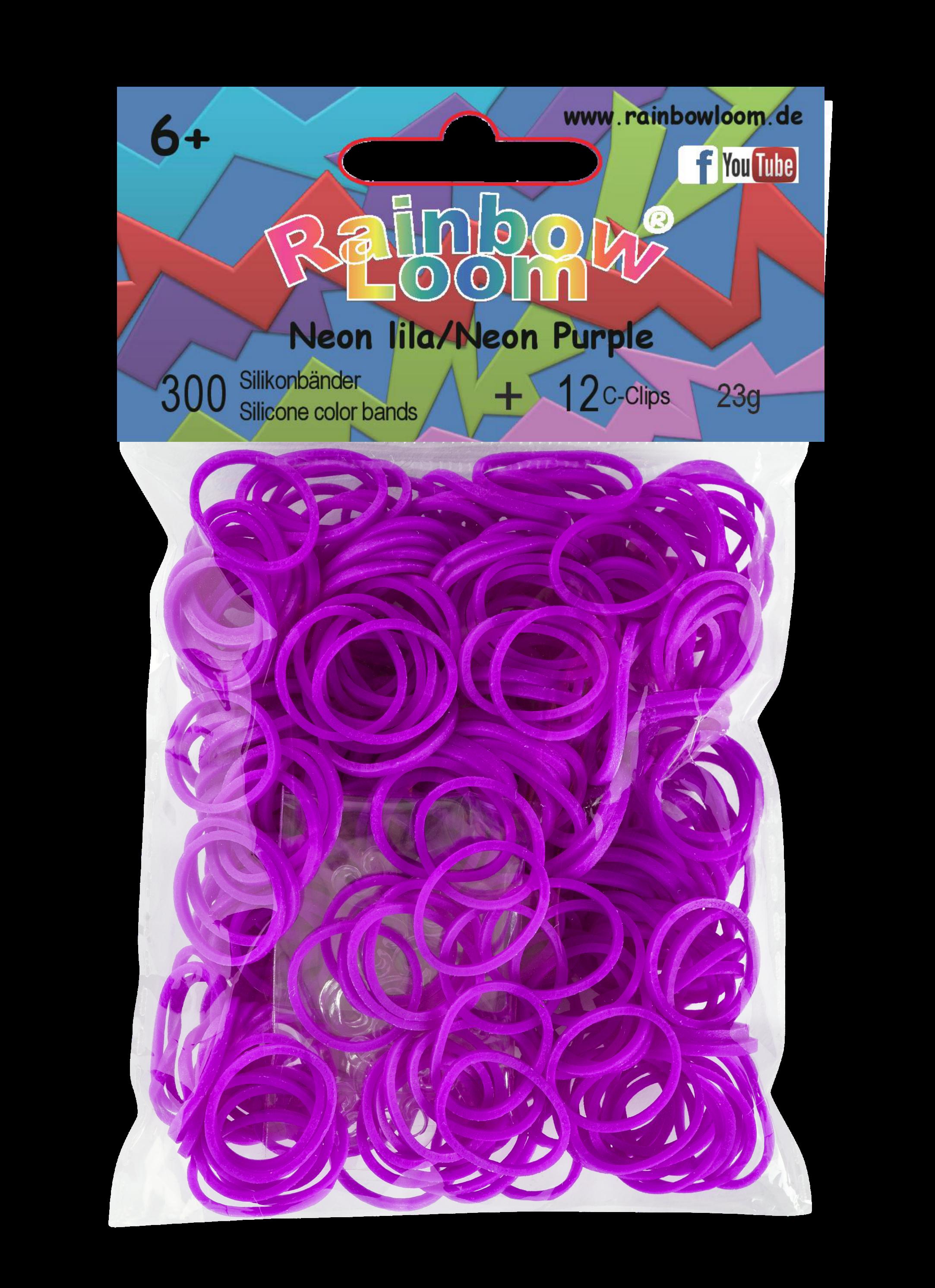 Rainbow Loom originální gumičky 300 kusů neonově fialové od 6 let