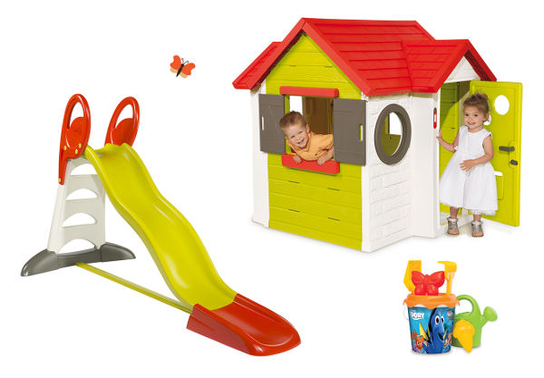 Detský domček so šmykľavkou Smoby