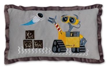 Plyšové vankúše - Vankúšik Wall-e Ilanit šedý 42*28 cm